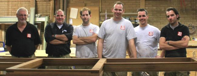 Het team van timmerbedrijf v.d. Boorn